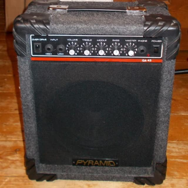 """Pyramid GA-43 Amp With Overdrive *Loud Little Monster"""" 1980's  *35% Off Amp Sale* image"""
