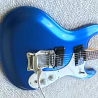 Mosrite Ventures 1966 electric guitar Blue - rare wide flame maple neck! for sale