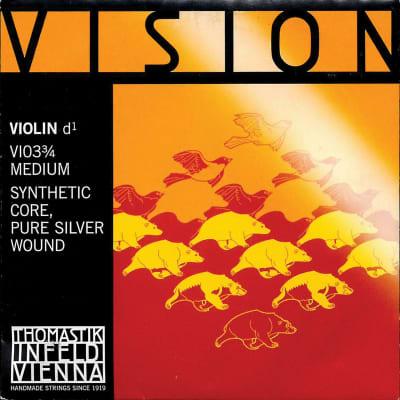 Thomastik-Infeld VI03 Vision Silver-Wound Synthetic Core 3/4 Violin String - D (Medium)