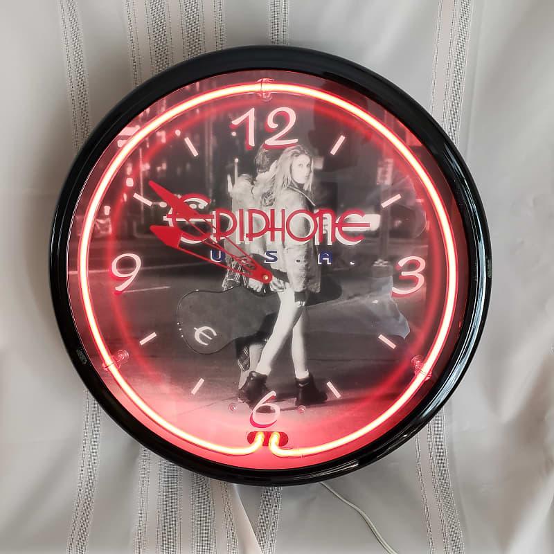 Epiphone Neon Wall Clock 1980 S J Dee Music Treasures
