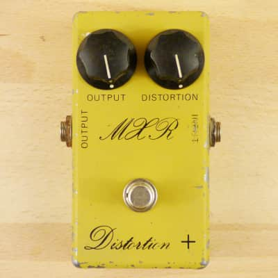 1977 MXR M104 Distortion + Plus - Original Vintage Script Logo - Guitar Effects Pedal - VG Condition image