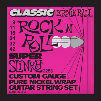 Ernie ball Classic Pure Nickel Guitar Stings Slinky Super 9 - 42 for sale