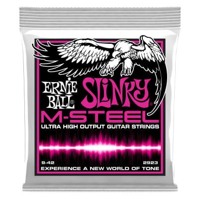 Ernie Ball Super Slinky M-Steel Electric Guitar Strings - 9-42 Gauge