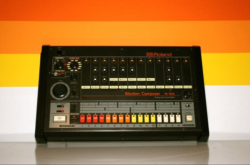 roland tr 808 rhythm composer vintage drum machine dj space reverb. Black Bedroom Furniture Sets. Home Design Ideas