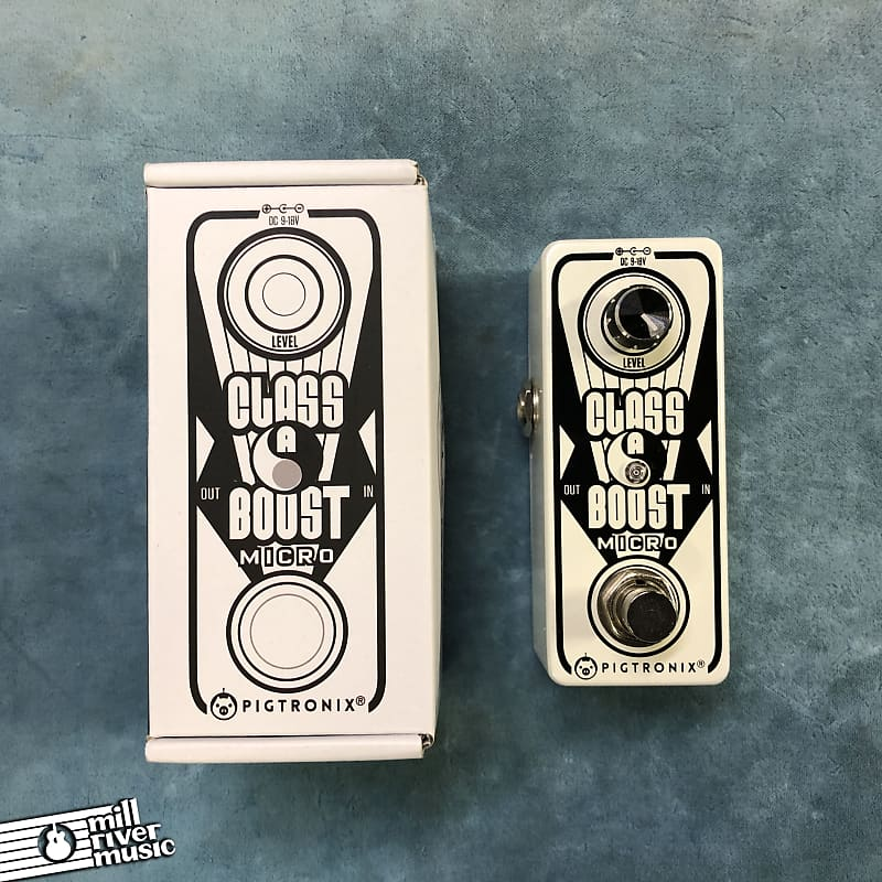 Pigtronix CAB Class A Boost Micro Effects Pedal w/ Box
