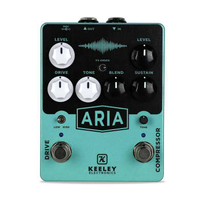 Keeley Aria Compressor Drive Overdrive Guitar Effects Pedal
