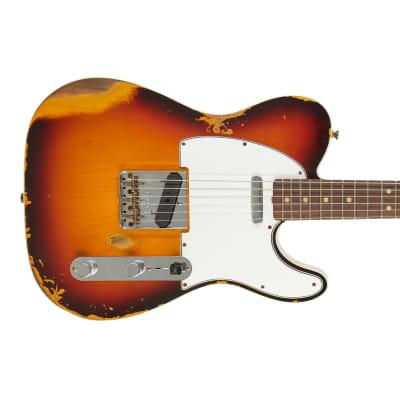 Fender Custom Shop Time Machine 1964 Telecaster Heavy Relic Faded 3 Tone Sunburst for sale
