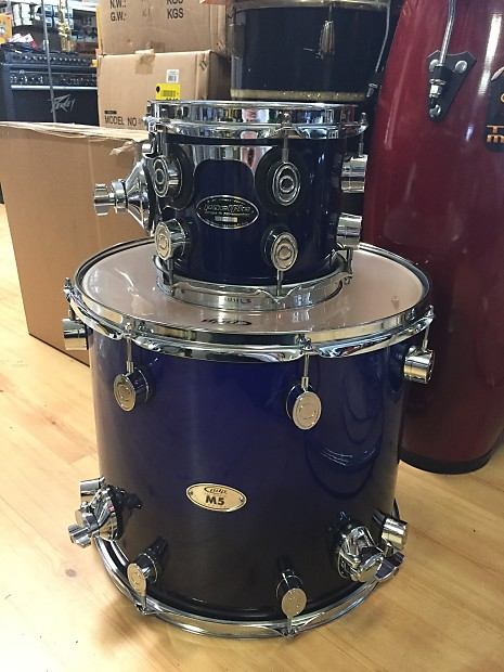 Pdp 16 x 14 m5 floor tom blue to black fadeand reverb for 16x14 floor tom