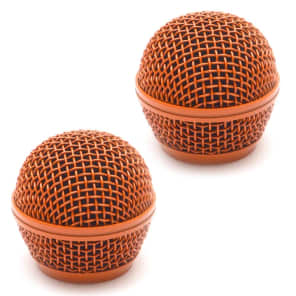 Seismic Audio SA-M30Grille-ORANGE-2PACK Replacement Steel Mesh Mic Grill Heads (2-Pack)