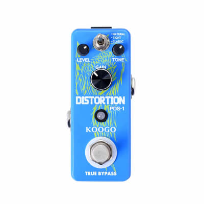 Koogo DIST-2 Distortion Pedal Solo Effect Guitar Pedal True Bypass Mini Pedal Grunge Fuzz