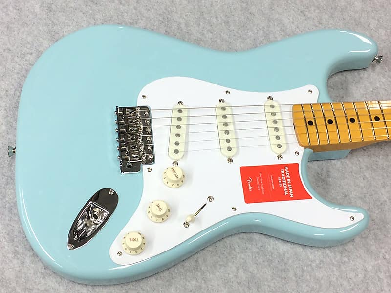 Fender Japan Traditional 50s Stratocaster Weight≒3.20kg SN: JD18001690 2018 Sonic Blue image