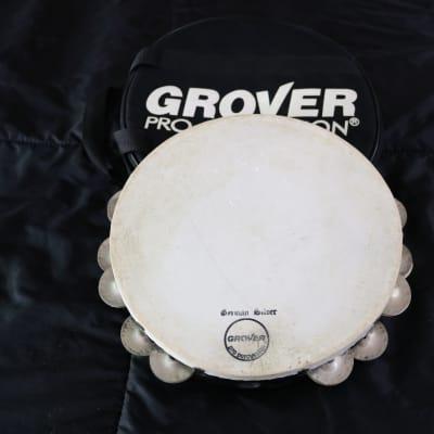 Grover  Pro Percussion Tambourine T2GS - German silver jingles & calf head