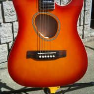 Fishbone FKF-001-SBR Acoustic Electric Thin Body Guitar 2015 Sunburst Red for sale