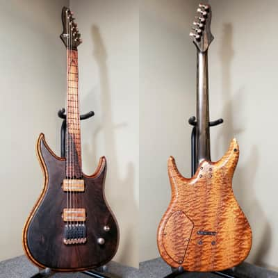 Barlow Guitars Raven 2019 Malaysian Blackwood / Figured Sapele / Camatillo for sale