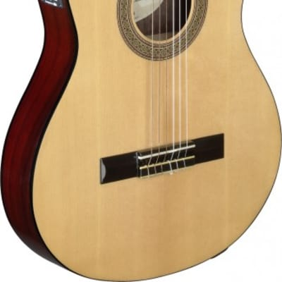 Angel Lopez CER TCE S Acoustic-Electric Classical Guitar w/ Thin Body and Solid Spruce Top