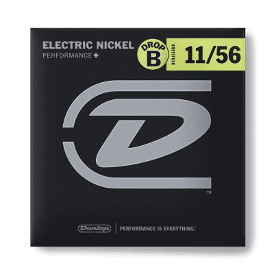 Dunlop DEN1156DB Performance+ Nickel Wound Drop B Electric Guitar Strings - 11-56