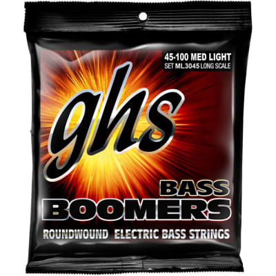 GHS ML3045 Bass Boomers Long-Scale Electric Bass Strings - Medium Light  (45-100)