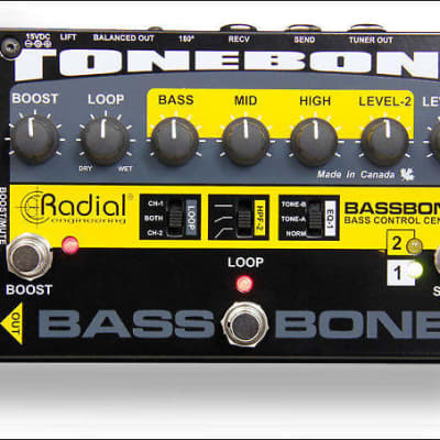 Radial Engineering Tone bone Bass bone V2 2-Channel Bass Preamp DI Direct Box;  Immaculate Condition