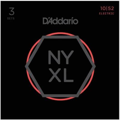 D'Addario NYXL1052 Nickel Wound Electric Strings - 10-52 Light Top/Heavy Bottom