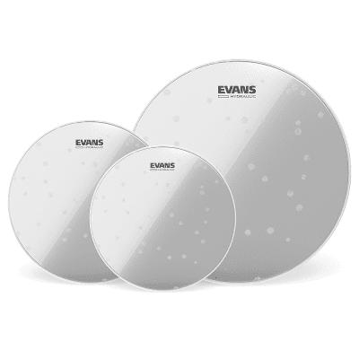 "Evans ETP-HYDGL-F Hydraulic Glass Fusion (10/12/14"") Tom Drum Head Pack"