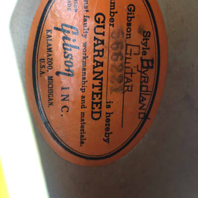 Gibson Byrdland 1969 Natural for sale