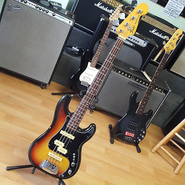 Fender Precision Bass 1977 Sunburst - 3 Pickups | Reverb