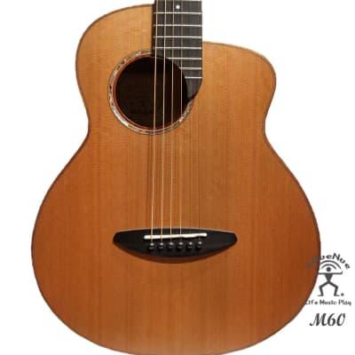 aNueNue M60 Solid Cedar & Rosewood Acoustic Future Sugita Kenji design Travel Size Guitar for sale