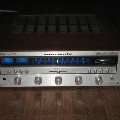 Marantz 2226 Stereo Receiver, Pro Refurbed, LEDs, Full Recap, Custom Wood Panels