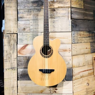 Luna Muse Acoustic-Electric Bass Guitar Satin Natural for sale