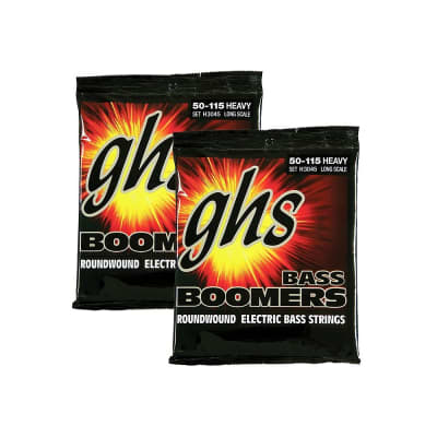 2-Pack GHS H3045 Long Scale Heavy Boomers Roundwound Electric Bass Strings (50-115)