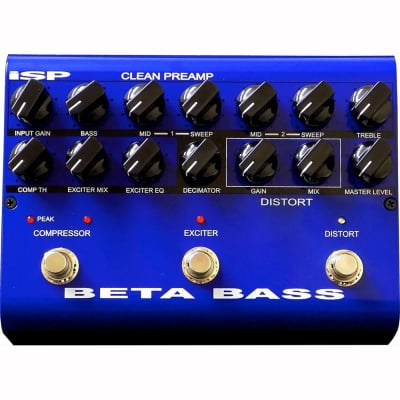ISP Technologies Beta Bass Preamplifier EQ Distortion Guitar Effects Pedal