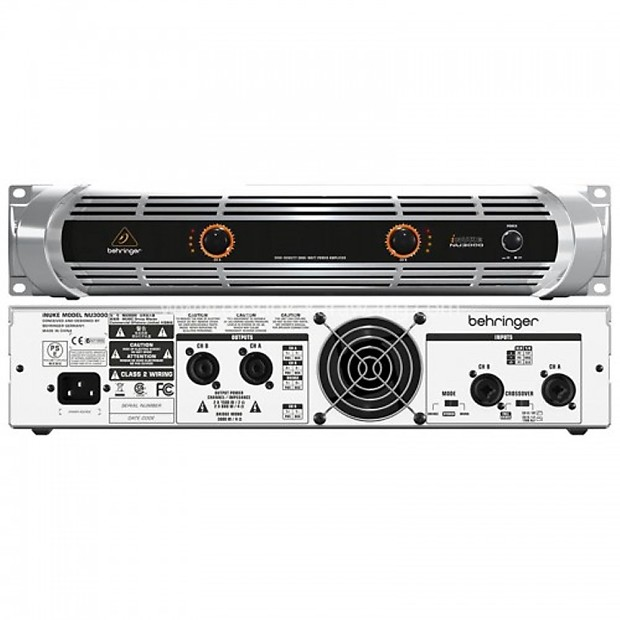 behringer nu3000 inuke dj club 3000w classd lightweight power reverb. Black Bedroom Furniture Sets. Home Design Ideas