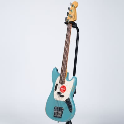 Fender Justin Meldal-Johnsen Signature Road Worn Mustang Bass - Rosewood, Faded Daphne Blue for sale