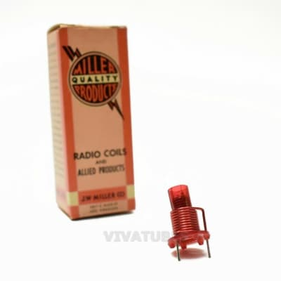 NOS NIB Miller No. 7515-E  I.F. Coil Exact Replacement Emerson 720315 3/4