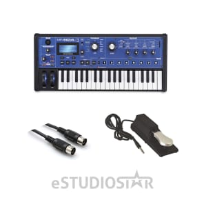 Novation MiniNova 37-Key Synthesizer w/ Vocoder, AxcessAbles MIDI Cable & Sustain Pedal
