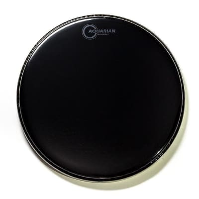 "Aquarian REF12 12"" Black Mirror Reflector Series Drum Head w/ Video Link"