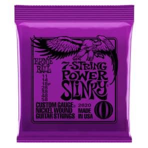 Ernie Ball 2620 7-String Power Slinky Electric Guitar Strings, .011 - .058