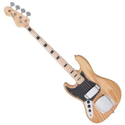 Vintage LVJ74HAT - 4 String Bass - Left Handed 2018 Natural Gloss