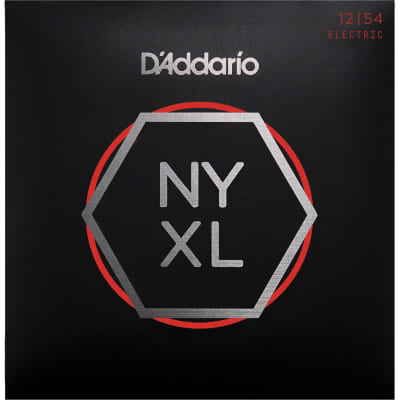 D'Addario NYXL1254 Nickel Wound Electric Guitar Strings, Heavy Gauge