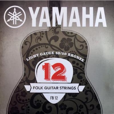 Yamaha 80/20 Bronze Acoustic Guitar Strings - Regular Light FB12 12-53 for sale