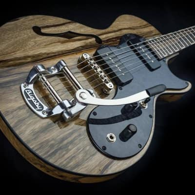 Ambler Custom 'Hound Dog' Masterbuild 2018 Exotic black limba for sale
