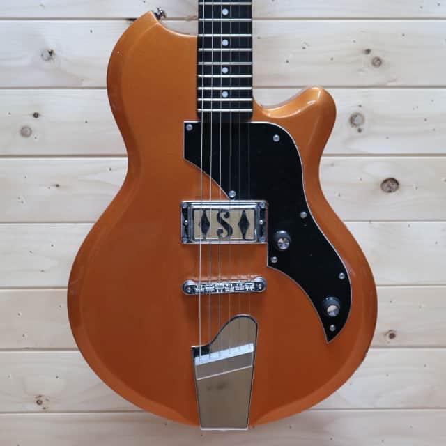 Supro 2010BZ Island Series Jamesport Electric Guitar - Bronze Metallic image