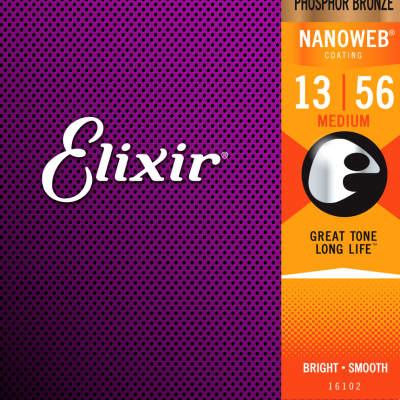 Elixir Acoustic Phosphor Bronze with Nanoweb -  Medium 13-56
