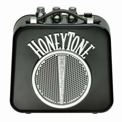 Danelectro Honeytone N-10 Guitar Mini Amp, Black with belt clip for sale