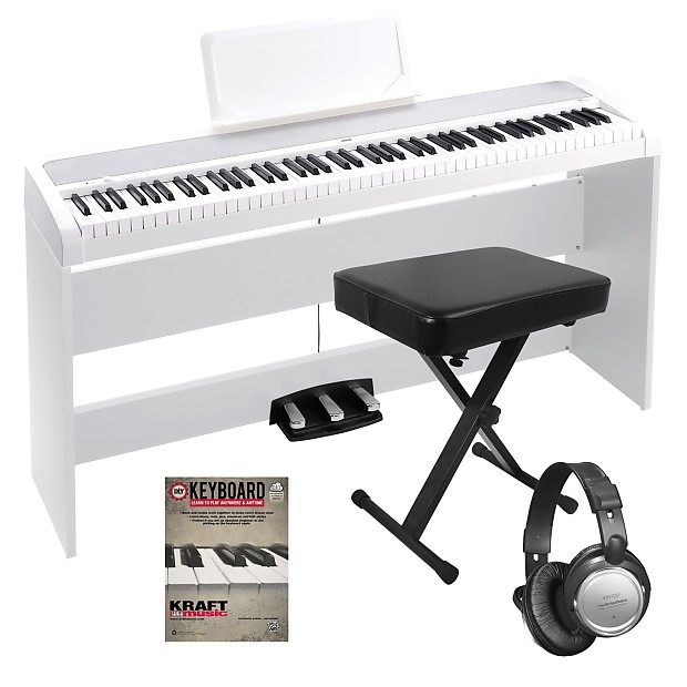 korg b1sp digital piano white home essentials bundle reverb. Black Bedroom Furniture Sets. Home Design Ideas