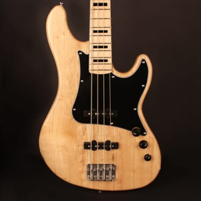 Cort GB54JJNAT GB Series Double Cutaway Canadian Hard-Maple Neck 4-String Electric Bass Guitar for sale