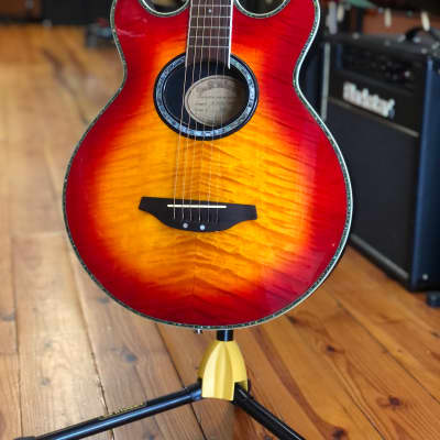 Miller SB-250EE DC Flame Top acoustic electric w/case for sale