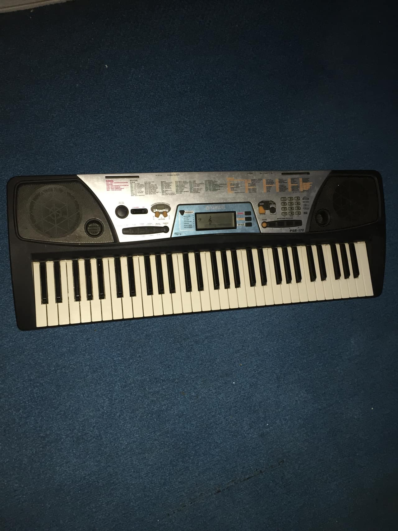 Yamaha psr 170 keyboard 2000s black midi guitar2thestars reverb for Yamaha 3 octave keyboard