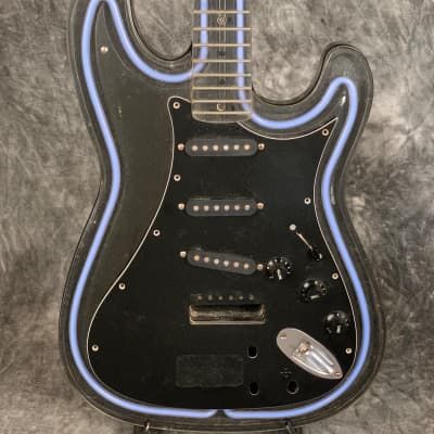 Lady Luck Neon Guitar Maybe Wall Art for sale