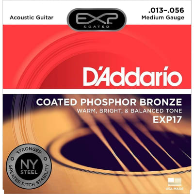 D'Addario Coated Phosphor Bronze Acoustic 13-56